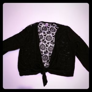 No boundaries lace back cardigan